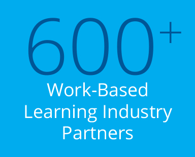 600 plus work-based learning industry partners
