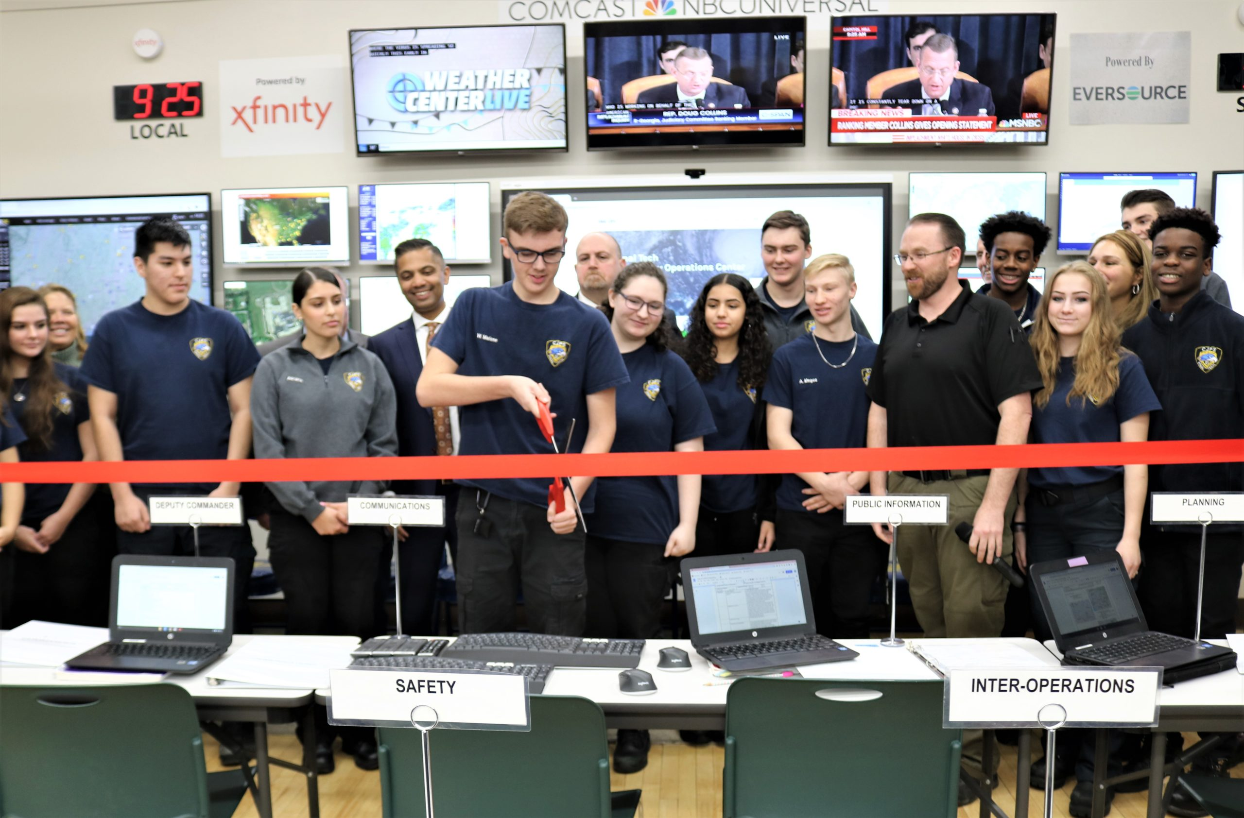Vinal Technical High School Unveils First-of-its-Kind Emergency Operation Center